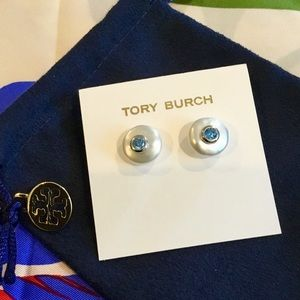 Tory Burch Jewelry - 🛍Tory Burch Freshwater Pearls and Blue Topaz